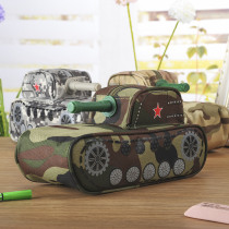 Novelty Tank Shaped Pencil Case with Code Lock Large Capacity Student Stationery Pen Bag Pouch Storage Box Gift Prize Supplies