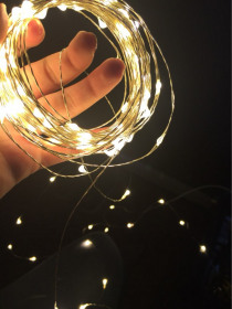 10M 100leds LED String Light Silver Wire with Battery Case Fairy Lights Christmas New Year Wedding Decoration Lights