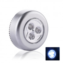 3 leds round touch mini led book light 3W AAA battery power Emergency book lamp reading Night Lights wall booklamp For Bedroom