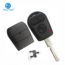 OkeyTech for BMW 3 Button Remote Key Shell Replacement Uncut HU58 Blade Cover Case Fob for BMW E31 E32 E34 E36 E38 E39 E46 Z3