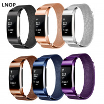 LNOP Milanese Loop strap For Fitbit Charge 2 band charge2 hr correa Stainless Steel wrist Link Bracelet belt watch Accessories