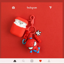 For Airpods Cases Marvel Avengers Cartoon Doll keychain Earphone Case For Apple Airpods Headset Box Accessories Silicone Cover