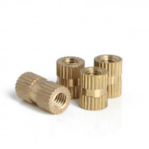 ID*H*OD M4 M5 M6 Brass Knurl Insert Nuts Copper Threaded Embedded Nutsert For Injection Moulding