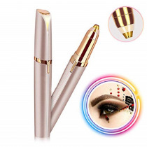 Battery Gold Instant Painless Electric Eyebrow Trimmer Women Shaver Eyebrow Hair Removal Epilator Brows Electric Shaver Razor