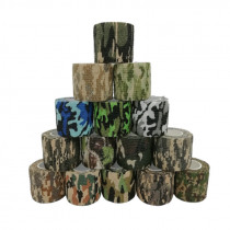 Self-adhesive Camo Stretch Bandage Tactical Hunting Fabric Camouflage Self-adhesive Medical Adhesive Elastic Tape First Aid