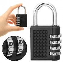Hot Sale Weatherproof Protection Security Combination Padlock 4-Digit Number Black Lock Heavy Duty For Outdoor