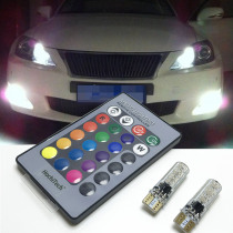 For lexus rx300 rx330 rx350 is200 is250 gs300 lx570 lx470 gx47 Canbus LED RGB T10 Bulbs LEDs Clearance Lights with Remote