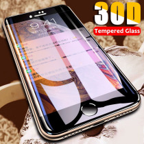 30D Curved edge Protective Glass On The For iPhone 7 8 6 6S Plus Tempered Glass Full Cover For X XR XS Max Screen Protector Film