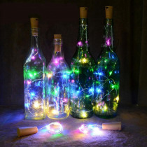 String Light With Bottle Stopper 1M 10 LED Cork Shaped Wine Bottle Lights Decoration For Christmas Holiday Party