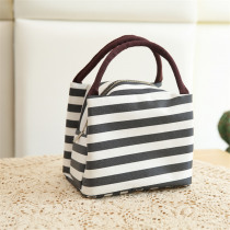 Portable Striped Lunch Bag Women Reusable Cold Insulated Lunch Bags Totes For Work Pinic Travel 2019 New Arrival Casual Handbags