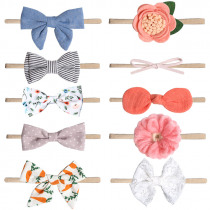 1pc Elastic Baby Girl Headband Bow Flower Headband Rubber Children Baby Nice Hair Rubber Headwear Stretchy Bowknot Hair Band
