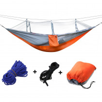 Outdoor Camping Mosquito Net Hammock Portable Single Double Adult Sleeping Swing Hang Bed Hiking Hunting Hammock 260x140cm