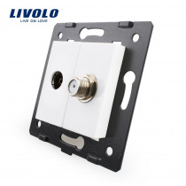 Livolo EU Standard  Socket  Accessory For  DIY Products,The Base of Socket TV+ SATV  Socket  VL-C7-1VST-11