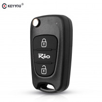 KEYYOU Replacement Flip Folding Key Case Blank Remote Fob Key Shell For Kia Rio Car Style 3 Buttons Car Key Cover TOY40 Blade