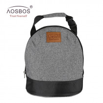 AOSBOS Portable Cooler Lunch Box Bag Tote Insulated Canvas lunch Bag Thermal Food Picnic Bento Lunch Bags for Women kids Men