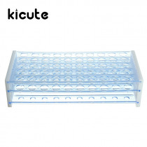 Kicute 1pc 50 Holes Plastic Test Tube Rack Standing Holder for 12-13 MM Test Tubes Stand Shelf Laboratory Supplies 255x110x62mm