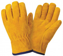 leather work gloves slip-resistant workiing gloves split cow leather driver safety glove