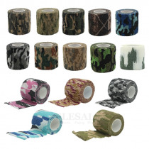 1-Roll 2.5-5-15cm Elastic Self-Adhesive Camouflage Bandages For Home Sports Sprain Treatment Emergency Kits Outdoor Gear Cover