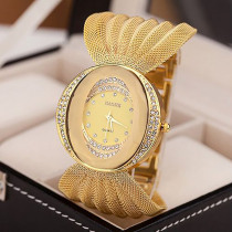 Ultra-thin Fashion Watch 2018 Women 's Bracelet Watches Stainless Steel for Women Bangles Watch Artificial Crystal Wristwatch