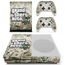 Grand Theft Auto V GTA 5 Skin Sticker Decal For Microsoft Xbox One S Console and 2 Controllers For Xbox One S Skin Sticker Vinyl
