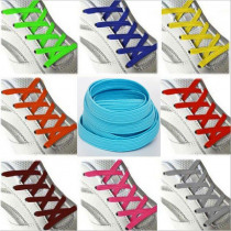 1 Pair High Quality Elastic Stretching Locking No Tie Lazy Shoelaces Unisex Flat Shoe lace Kids elastic Rubber shoelace 100 cm