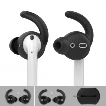 For Airpods 2 Case +Silicone Anti-lost Earbuds Eartip Hook Cap Headphone Protective Box for Apple Airpods Accessories