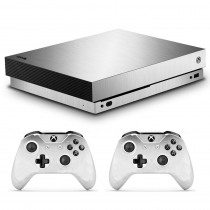 Metal Brushed Skin Sticker Decal For Microsoft Xbox One X Console and 2 Controllers For Xbox One X Skin Sticker Vinyl