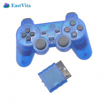 BEESCLOVER Console Joystick Vibration Shock Joypad Transparent Wireless Gamepad for Sony PS2 Controller for Playstation 2 r25