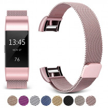 For Fitbit Charge 2 Band Metal Strap Screwless Stainless Steel Magnetic Bracelet Strap For Fitbit Charge2 Wristbands Replacement