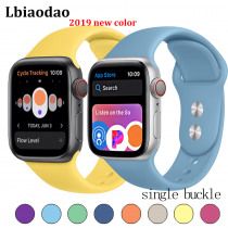 Strap For Apple Watch band apple watch 4 3 iWatch band 42mm 38mm 44mm 40m sport Silicone correa Bracelet apple watch Accessories