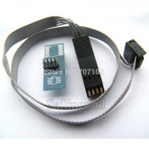 Programmer Testing Clip DIP8 Pin IC Test Clamp with cable DIP8 IC Flash Clip