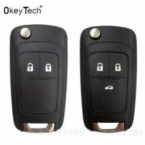 Flip key Folding Remote 2 3 Button Car Key Fob Shell Case For opel Chevrolet Vauxhall astra h j insignia g vectra c mokka zafira