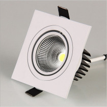 LED Down Light Square 7W 12W Led Downlight COB Dimmable Recessed Led Ceiling Spot Light Lamp AC85-265V +Driver Indoor lighting