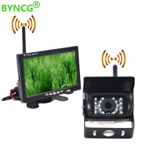 """BYNCG 7"""" Wired Wireless Car Monitor TFT LCD Car Rear View Camera HD monitor for Truck Camera support Bus DVD reversing camera"""