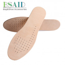 BSAID 1 Pair Genuine Leather Insoles,Men Women Sweat-Absorbant Breathable Deodorization Cowskin Flat Arch Pads Foot Shoe Cushion