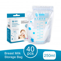 GL 40Pcs/Pack Baby Food Storage Breast Milk Storage Bags Freezer Big Size 250ML Breast Feeding Milk Bag BPA Free