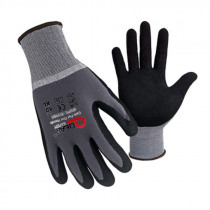 1/3/6 Pairs Nitrile Work Gloves Dipping Abrasive Palm Anti-skid Mechanic Maintenance Wear-resistant Breathable Labor Transport