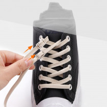 1pair 100cm Stretching Locking no tie lazy shoelaces Flat sneaker Bootlaces Elastic Rubber Shoe lace children safe shoelace