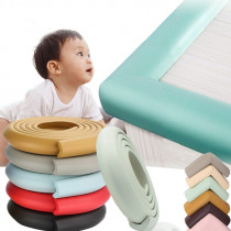 Baby Safety Table Corner Protector Anti-collision Angle Strip Child Safety Furniture Edge Angle Soft Protect The Belt Send Tape