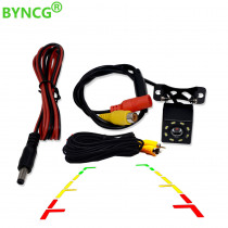 BYNCG 8 LED Night Vision Car Rear View Camera Universal Backup Parking Camera Waterproof  Wide Angle HD Color Image
