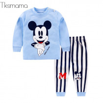 Winter Infant Clothing Newborn-baby-clothes Baby Boy Mickey Clothing Set Toddler 2pcs Suits