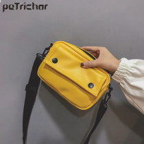 Small Square Flap Bag Yellow Mini Women Messenger Crossbody bags Fashion Shoulder Leather Handbags Purses Famous Brand Designer