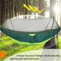 2-3 Person Outdoor Automatic Unfolding Mosquito Net Hammock Camping Travel Portable Double lifting Furniture Hammock 290 X 140cm