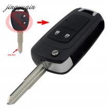 jingyuqin Modified Flip Key Shell For Chevrolet Aveo Epica LOVA Spark 2 Buttons Folding Remote Key Case Fob Right Blade Replace