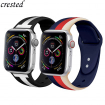 Silicone Strap for Apple Watch band 44 mm 40mm iWatch band 42mm 38mm Sport belt bracelet correas Apple watch 4 3 21 Accessories