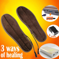 USB Electric Heated Insoles Soles Winter Plush Fur Heating for Men Women Shoes Boots Keep Feet Warm and Comfortable