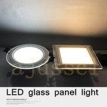 LED Panel Downlight 1PCS Dimmable Super Bright Glass Square round Ceiling Recessed Panel Lights LED Spot Light Bulb AC110V 220V