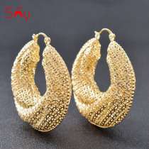 Sunny Jewelry Classic Big Round Hoop Earrings For Women Hot selling Jewelry Fashion Earrings For Party Wedding Jewelry Findings