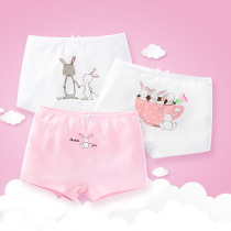 Girls'Flat Pants, Children's Underwear, Cotton Triangle Pants, Small, Middle and Old Children's Student Girls' Shorts 3pcs/lot