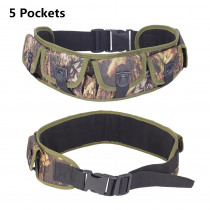 Tactical Ammo Holder Belt Ammo Shell Pouch 25 Rounds Bandolier 12GA Bullet Holder Shoulder Waist Bag Hunting Belt with 5 Pockets